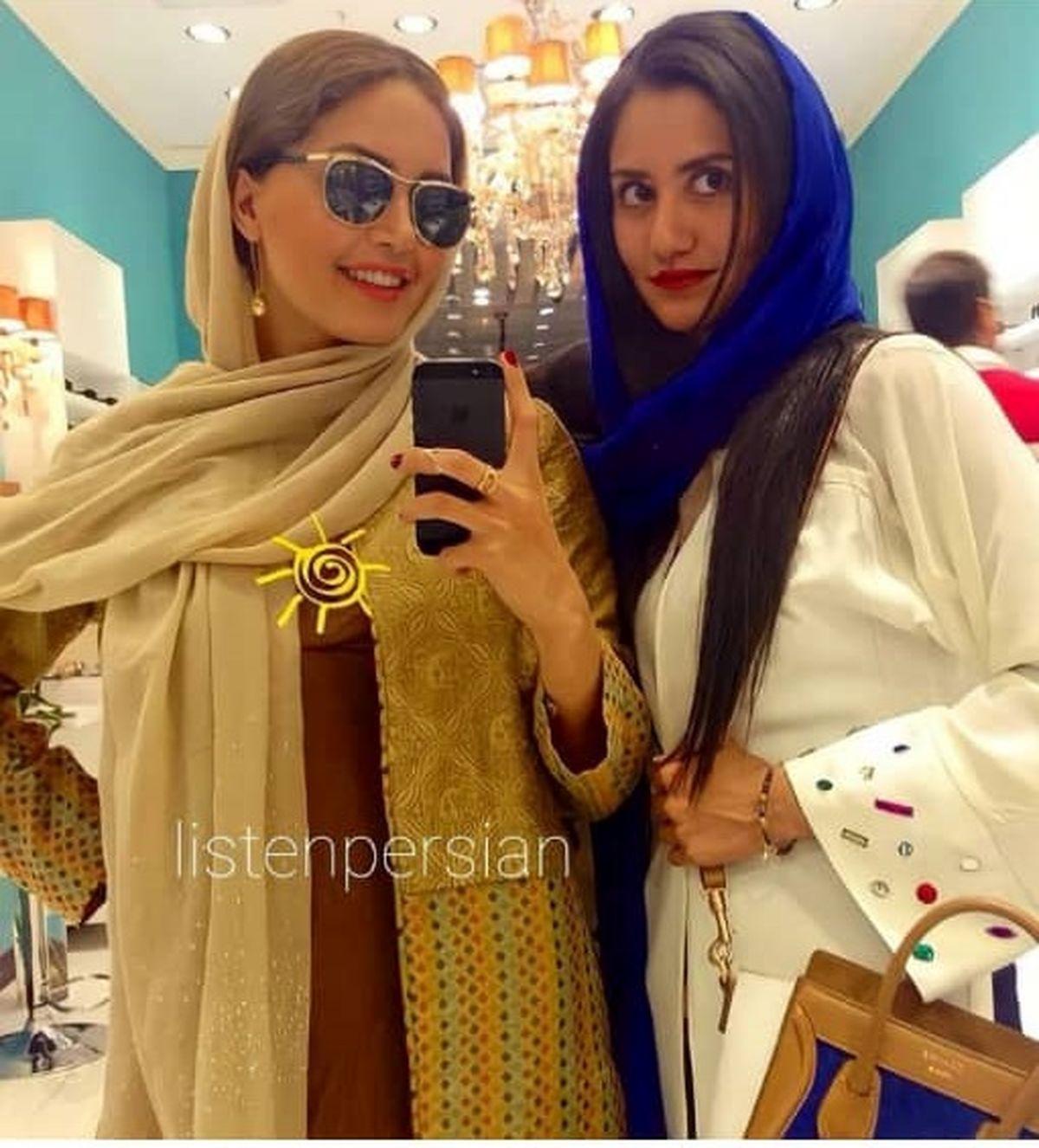 لباس های گران قیمت و لاکچری الناز شاکردوست و خواهرش در مهمانی! + عکس