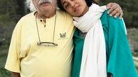 تیپ ناجور گلشیفته فراهانی در آغوش پدرش+عکس