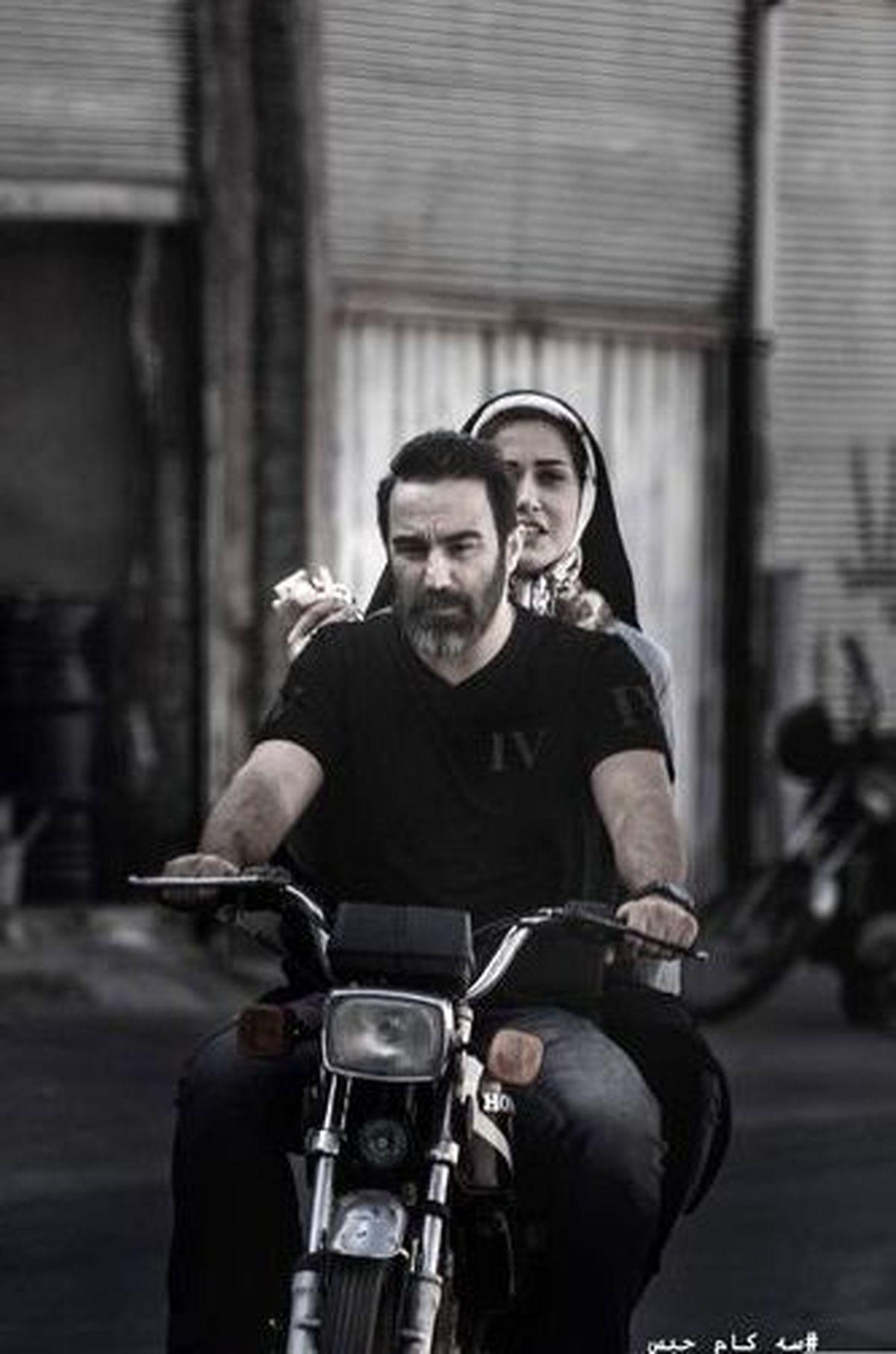 پریناز ایزدیار سوار بر موتور + عکس