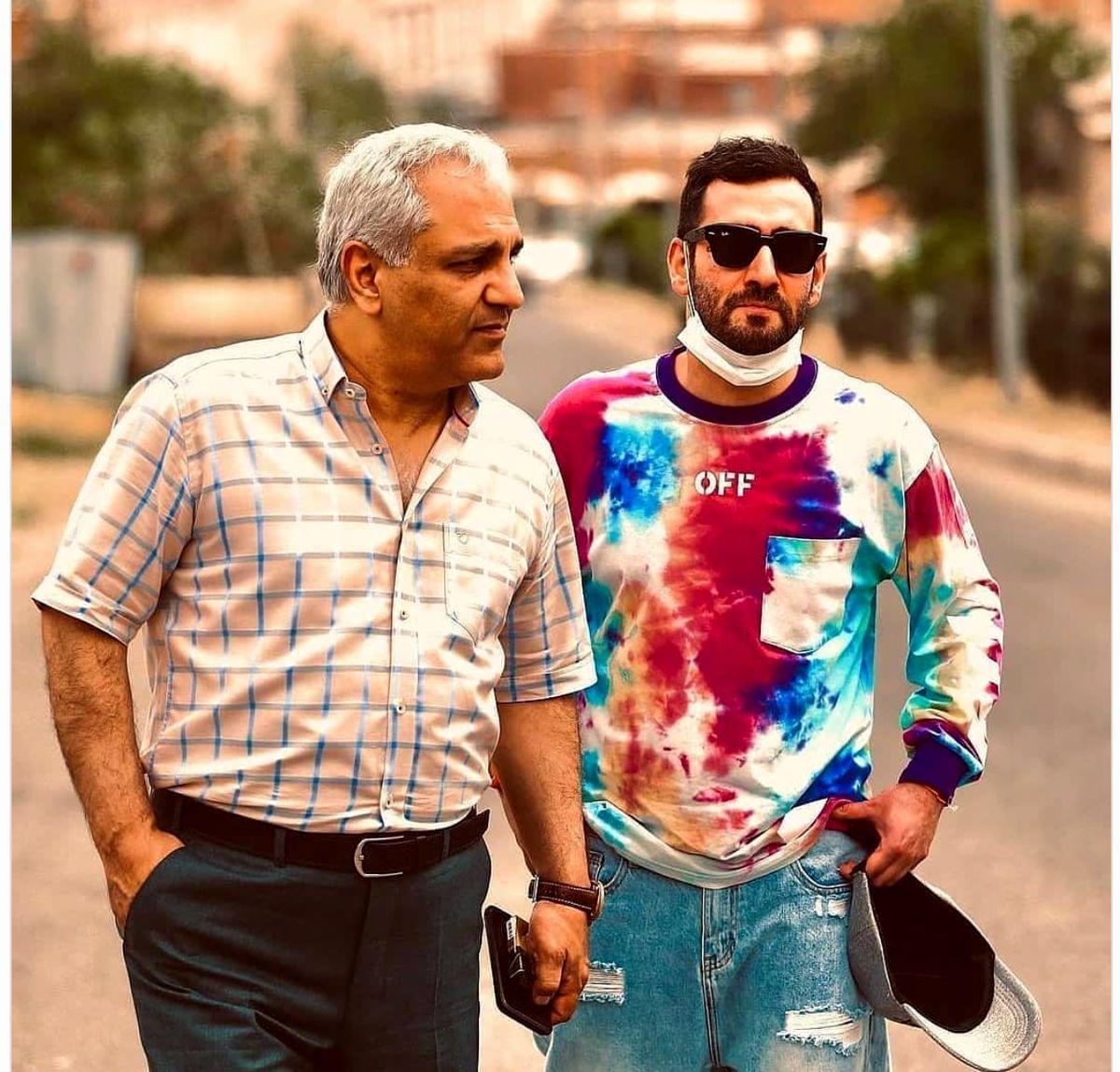 تیپِ خفن مهران مدیری و پسرش + عکس