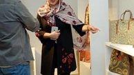 شلوار توری همسر شهاب حسینی + عکس