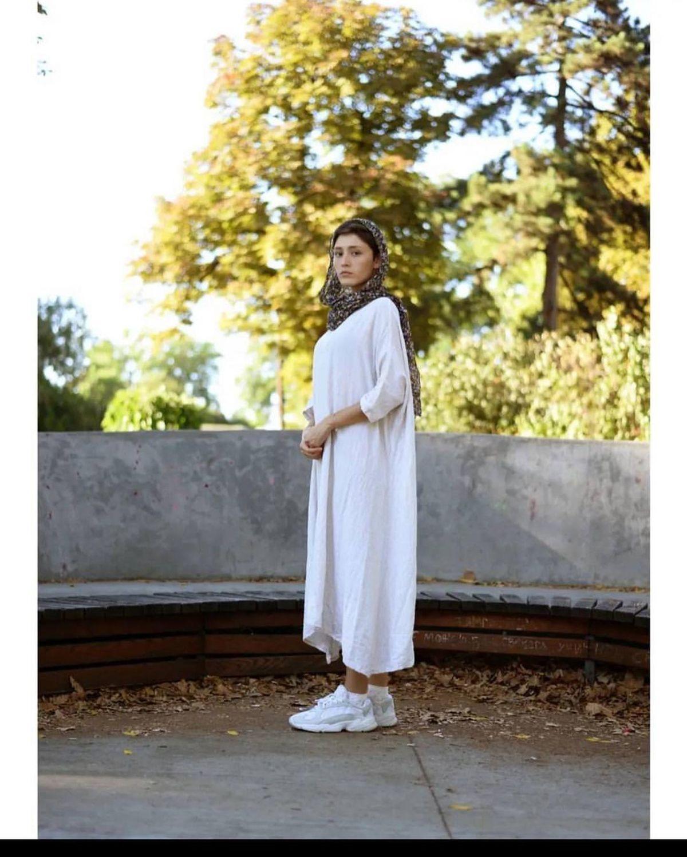 پیراهن سفید و کوتاه فرشته حسینی/ فرشته حسینی+ عکس