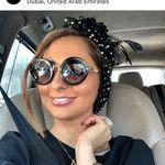 نفیسه روشن بدون حجاب در خودرویی لوکس در دبی + عکس
