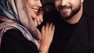 عکس عاشقانه بابک جهانبخش و همسرش در آتلیه/ بابک جهانبخش و همسر بی حجابش در آغوش هم