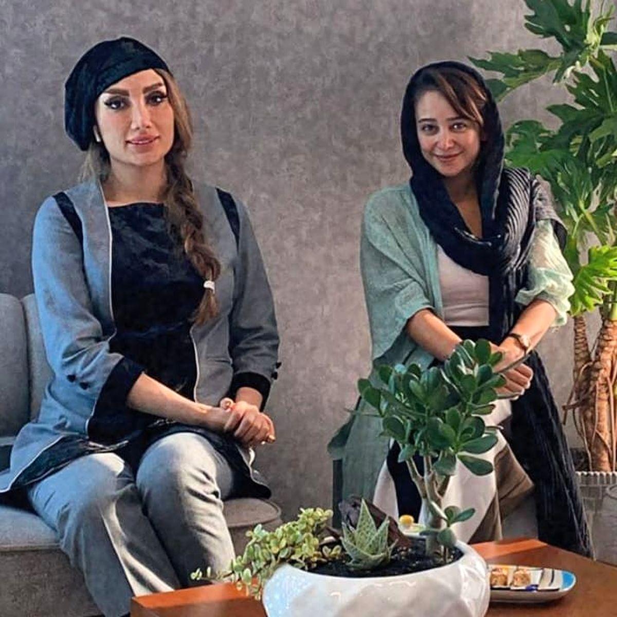 تیشرت سفید و چسبان الناز حبیبی + عکس