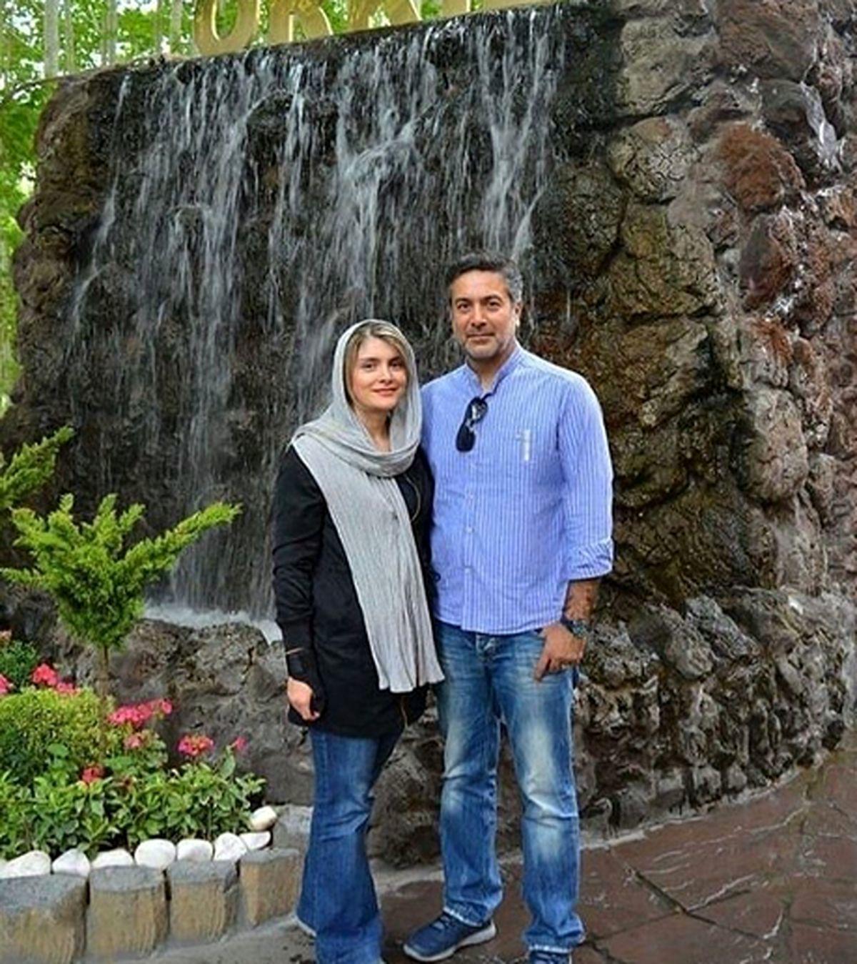 همسر جوان و بلوند حمیدرضا پگاه + عکس