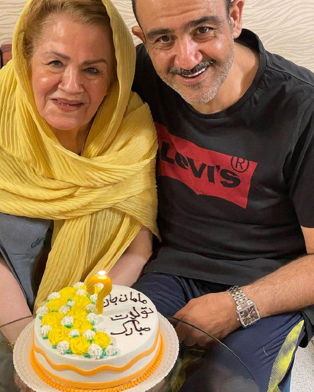 مهران غفوریان در جشن تولد مادرش /عکس
