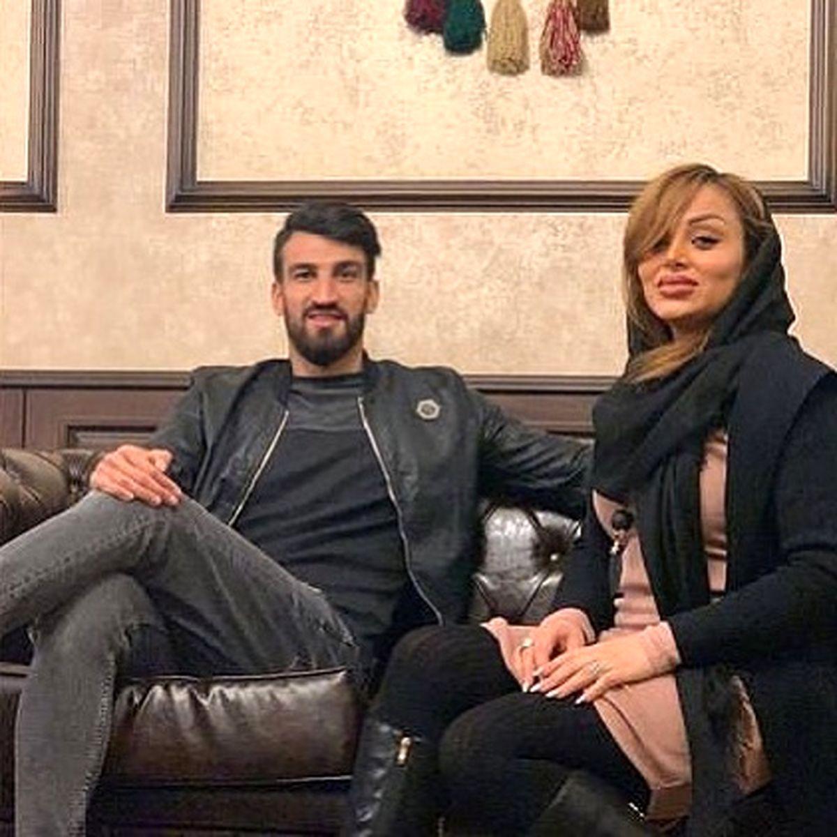 چهره فشن و لباس عجیب همسر حسین ماهینی + عکس