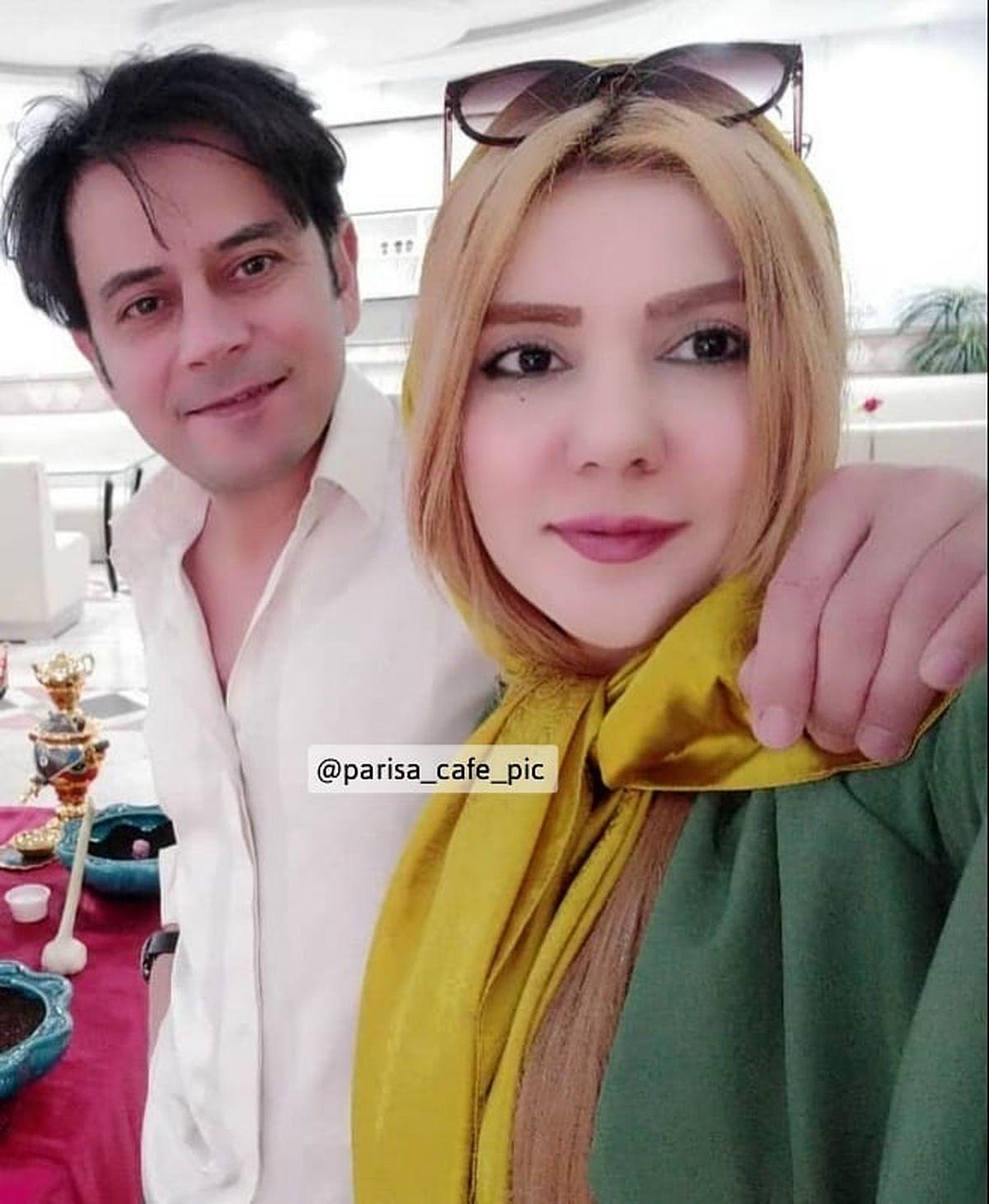 رحیم نوروزی و همسر دومش با موهایی بلوند + عکس