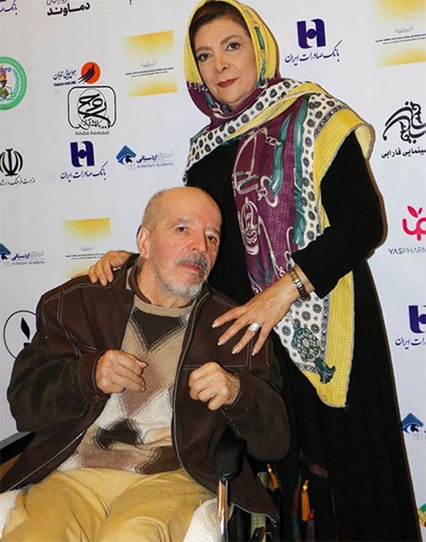 ویدیویی تلخ از محسن قاضی مرادی و همسرش پیش از فوت وی !