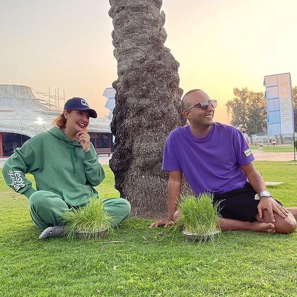 خوشگذرانی مهناز افشار با یک مرد +عکس