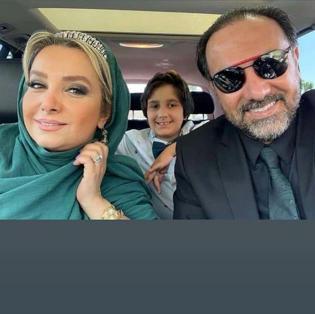 خودروی لاکچری برزو ارجمند در کنار همسر و پسرش+عکس