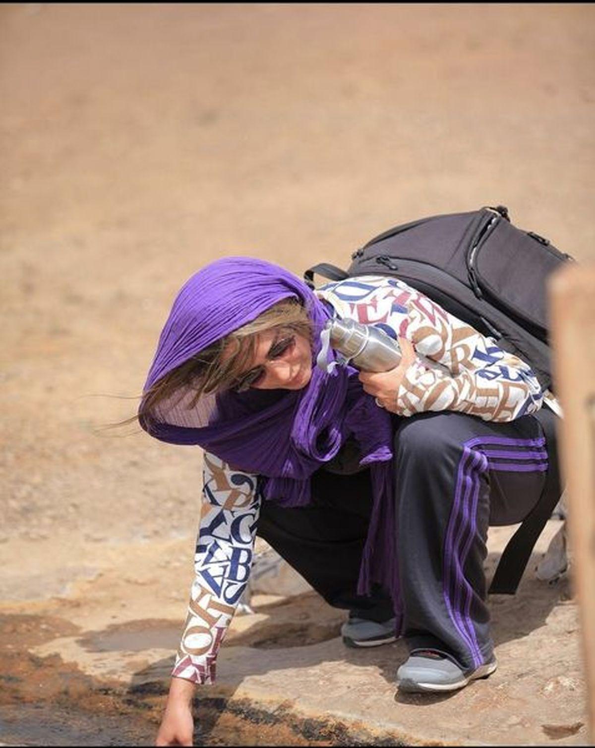 تیپ خفن سمانه پاکدل در کوهنوردی +عکس