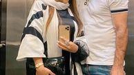 موهای عجیب و غریب همسر علیرضا نیگبخت در آغوشش +عکس
