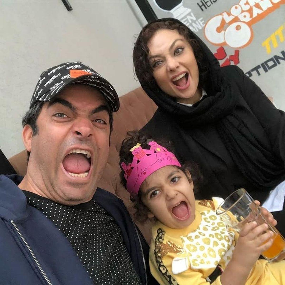 ژست عجیب و غیرعادی یکتا ناصر و خانواده اش + عکس