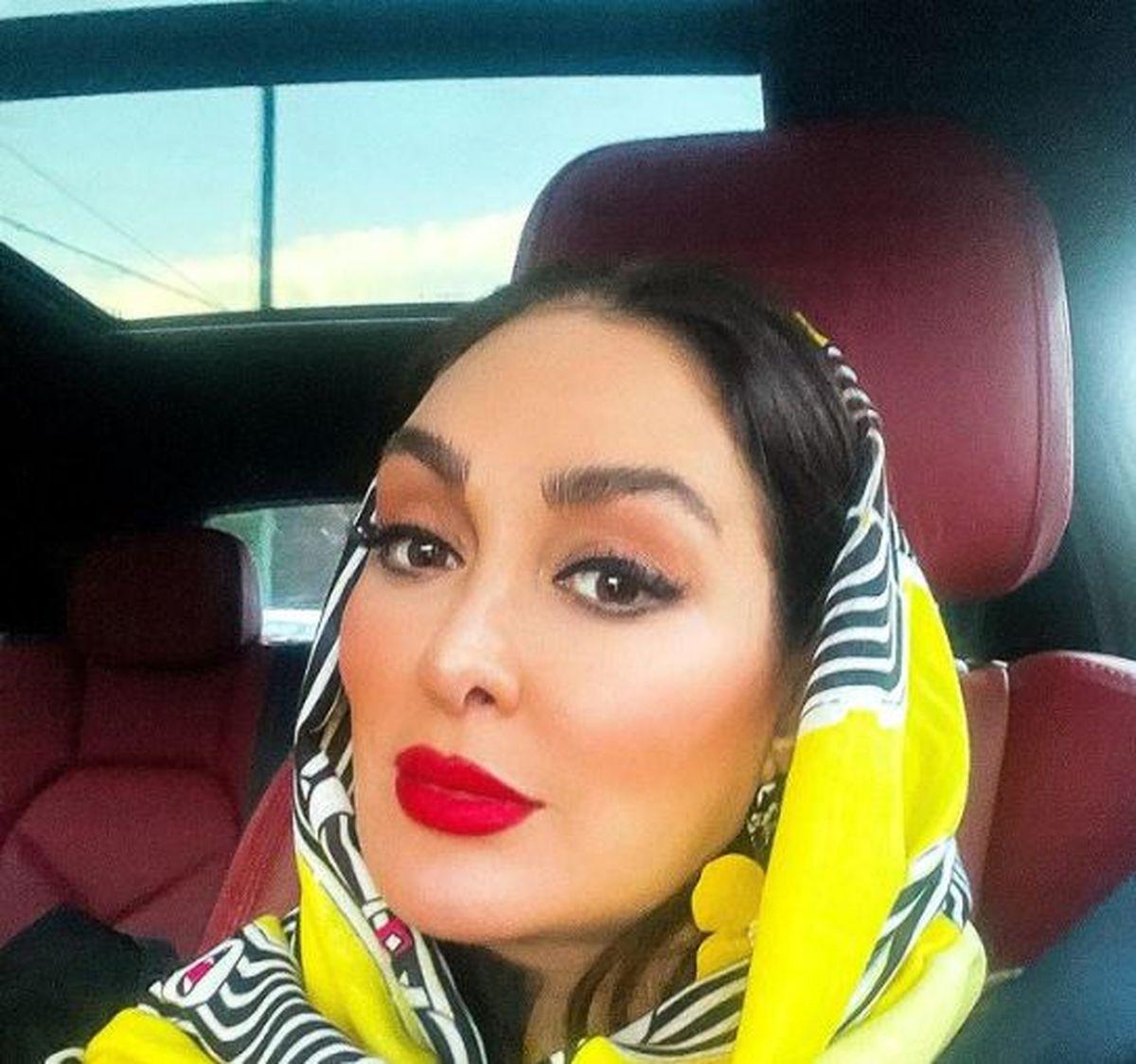 چهره جدید الهام حمیدی در خودروی لاکچری اش + عکس