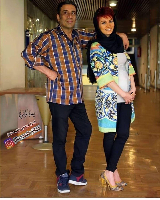 لباس های چسبان و عجیب همسر نصرالله رادش + عکس