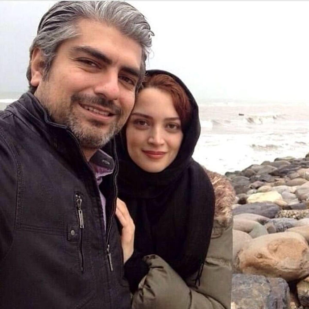 بهنوش طباطبایی و شوهرش کنار دریا !+عکس