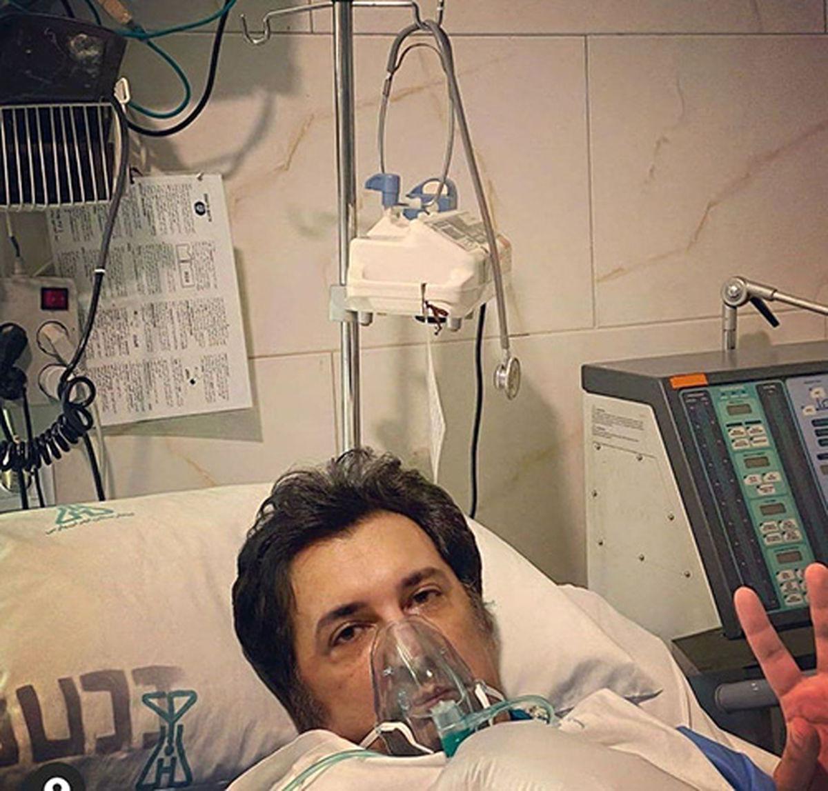 جشن شکست کرونای حسام نواب صفوی در بیمارستان + فیلم