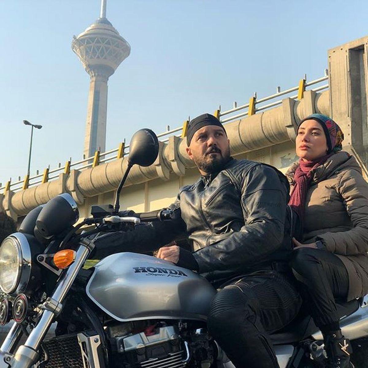 موتورسواری همسر کامبیز دیرباز + عکس