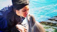 بوسه بازیگران زن ایرانی داخل استخر/ مهناز افشار، لیلا اوتادی و فرشته حسینی+ عکس