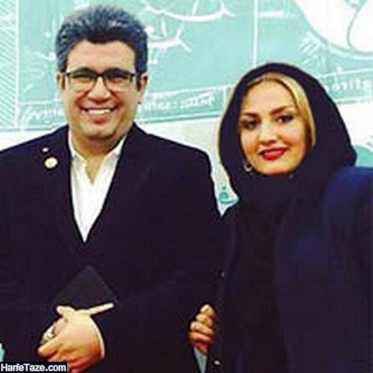 رضا رشیدپور و همسر فشن و مو بلوندش +عکس