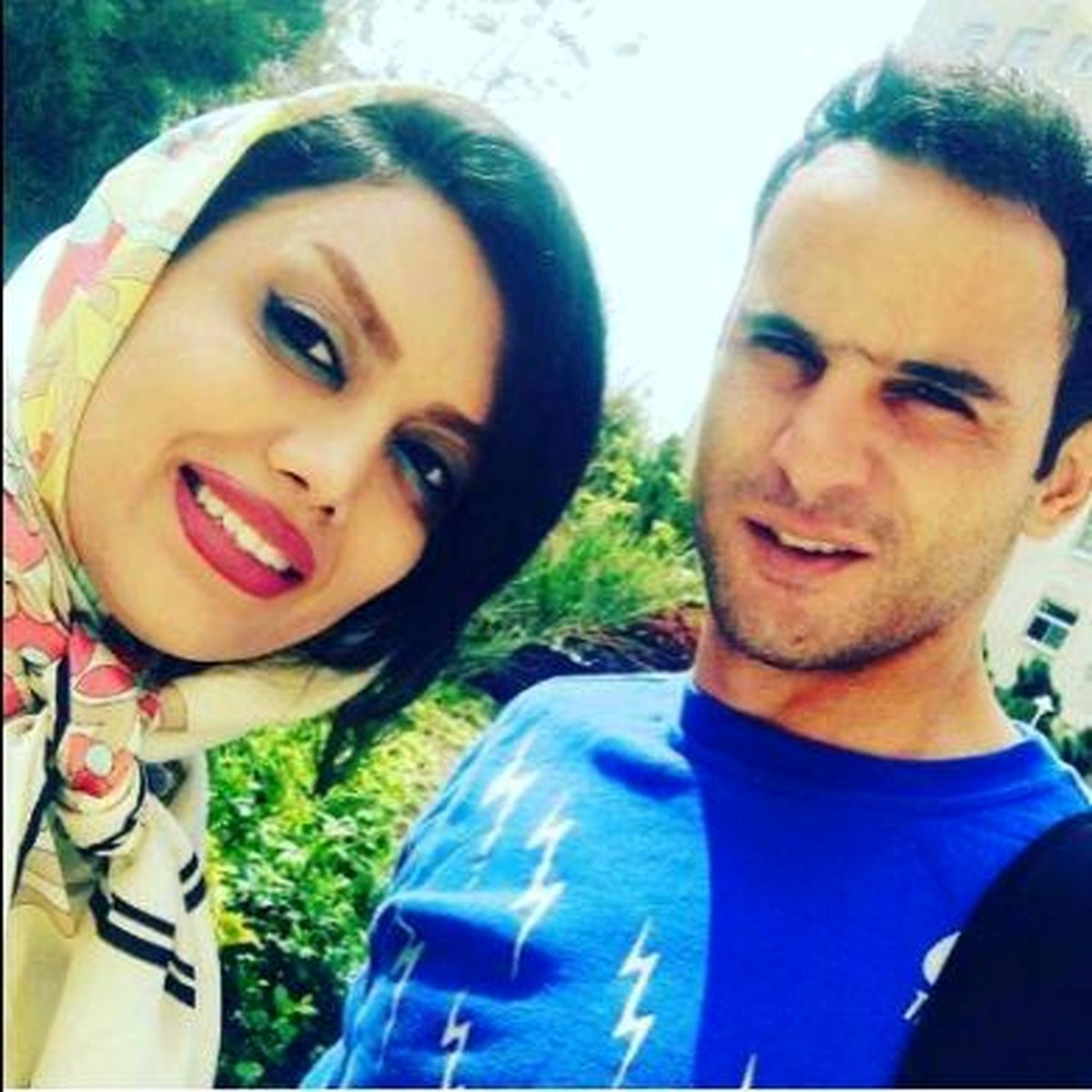حرکت زشت آرش برهانی و همسر حامله اش + عکس