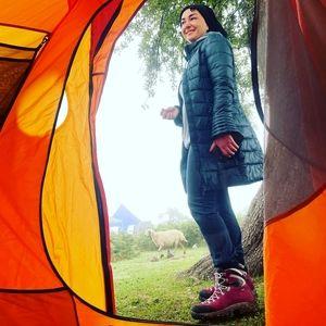 تیپ زمستانی و عجیب هانیه توسلی در تابستان ! + عکس