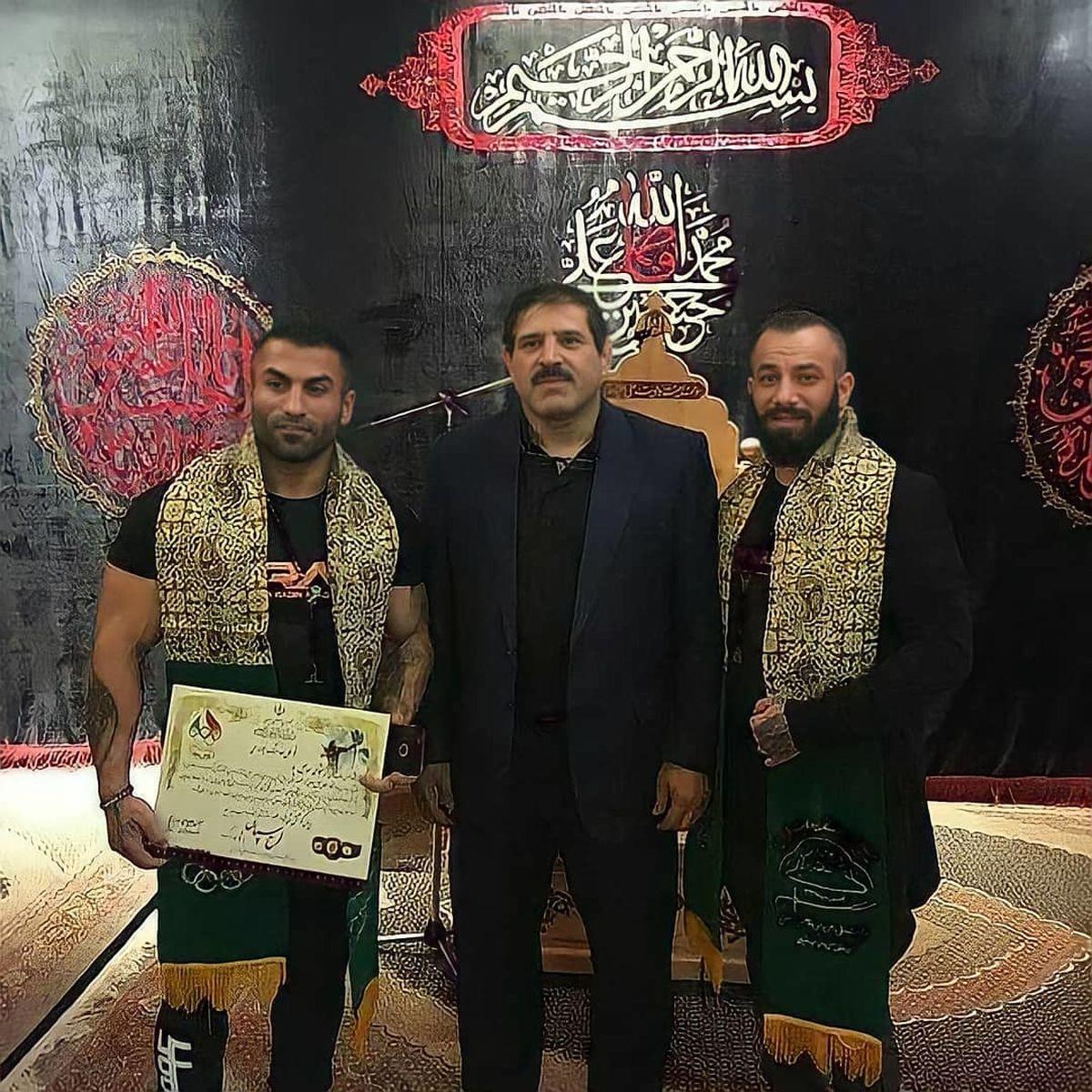 امیر تتلو در کنار عباس جدیدی + عکس