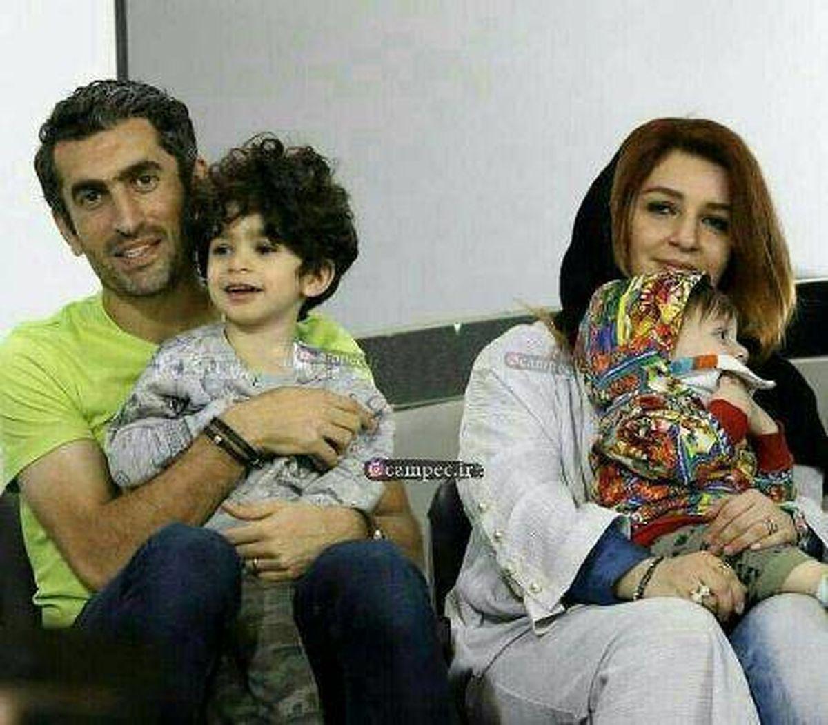 مجتبی جباری و همسرش در آغوش هم + عکس