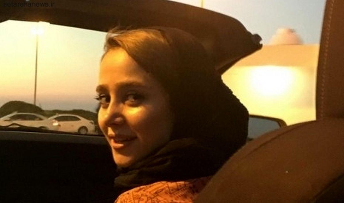 خودروی عجیب الناز حبیبی در خیابان +عکس