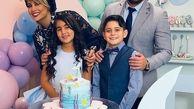 لباس توری و ناجور همسر بابک جهانبخش در جشن تولد دخترش+عکس