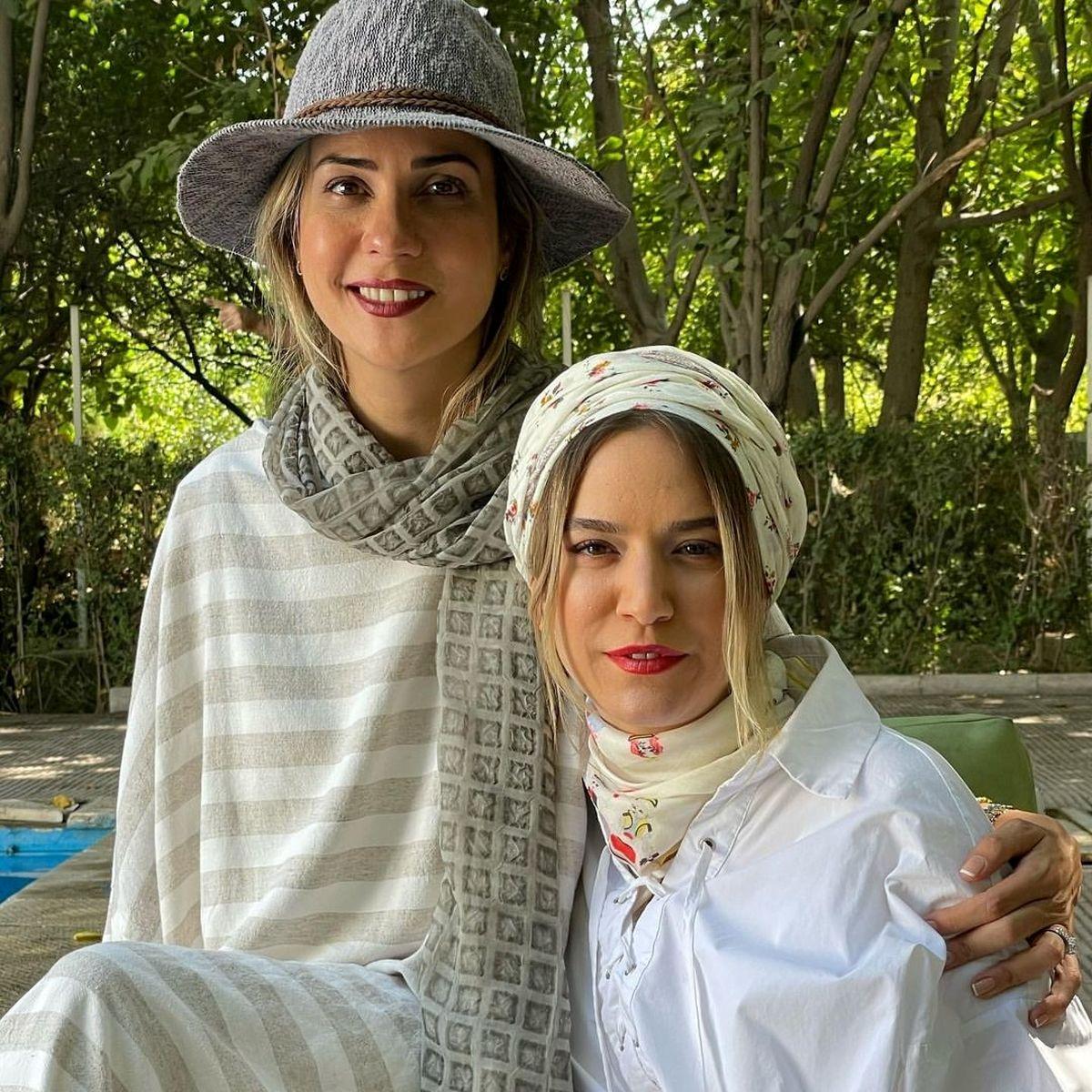 سارا بهرامی و ستاره پسیانی بدون حجاب در باغی زیبا + عکس