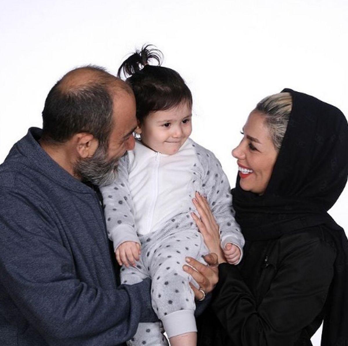 مهران غفوریان بعد از عمل در کنار دختر و همسرش + عکس