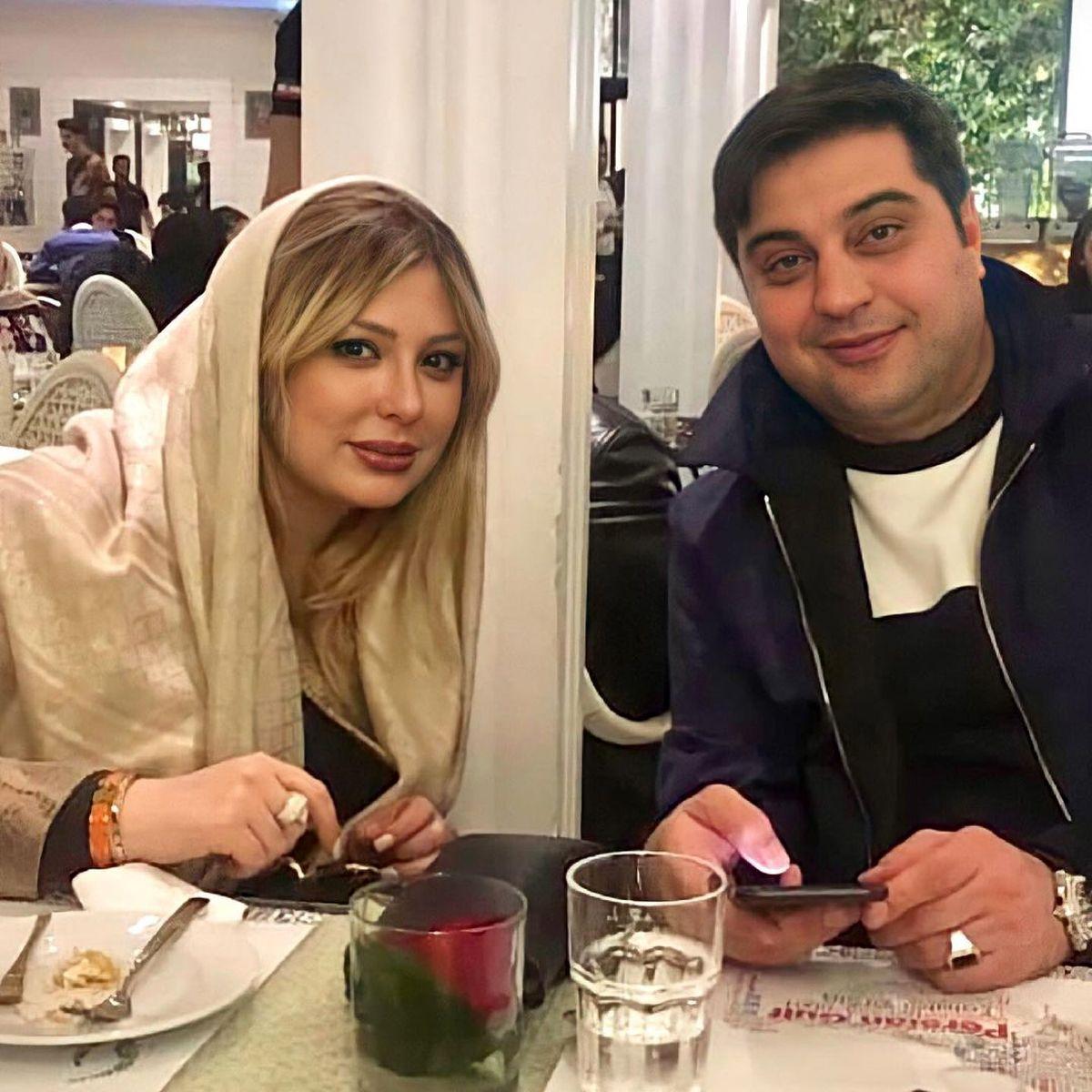 رستورانگردی نیوشا ضیغمی و همسرش با موهای بلوند +عکس