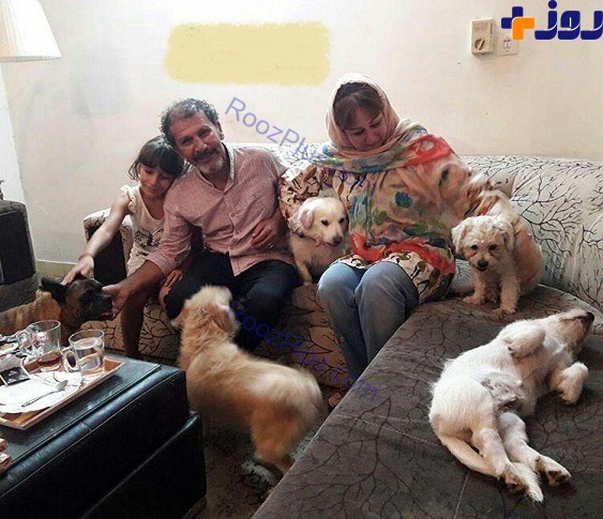 سگ های عجیب و غریب در خانه افشین سنگچاپ +عکس