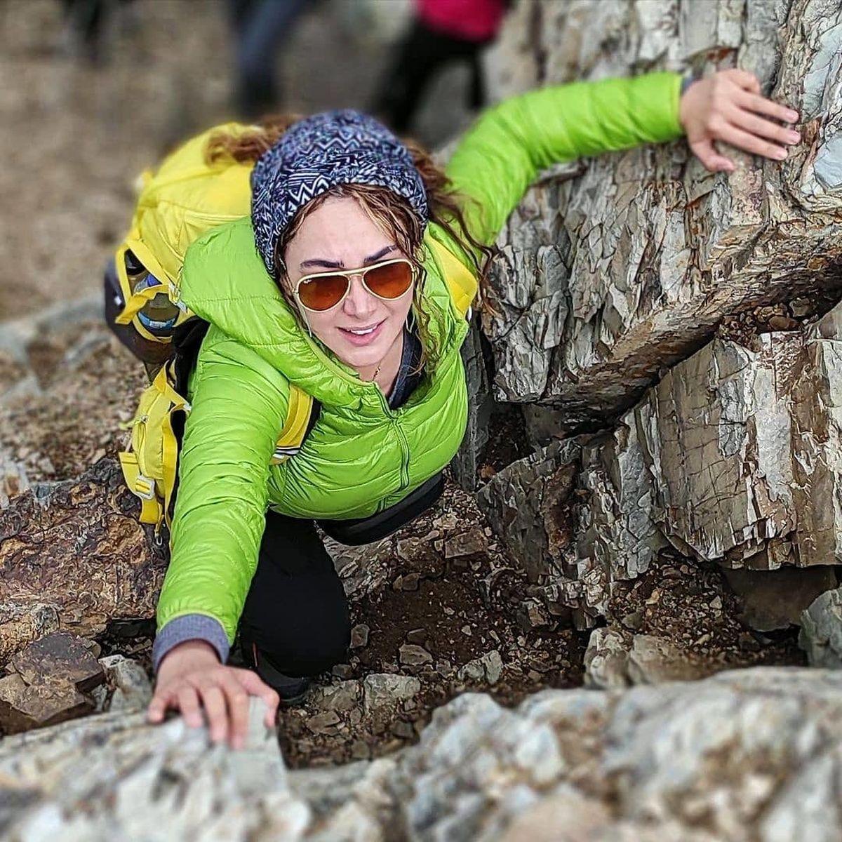 تیپ آنا نعمتی در کوه ! + عکس