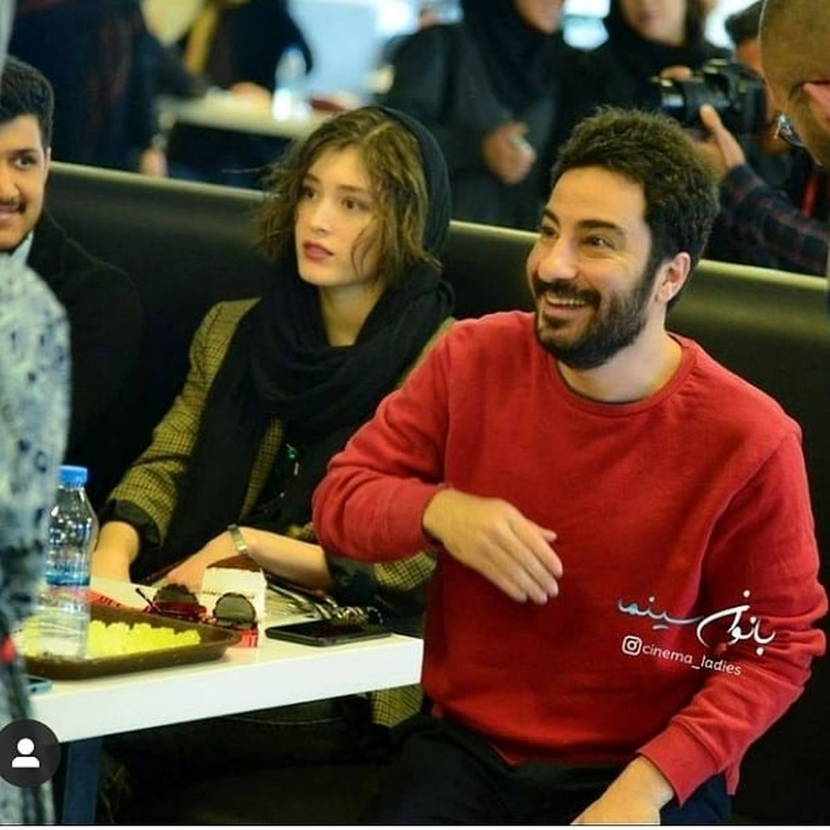 چهره عجیب و غریب فرشته حسینی در اینستاگرام نوید محمدزاده + عکس