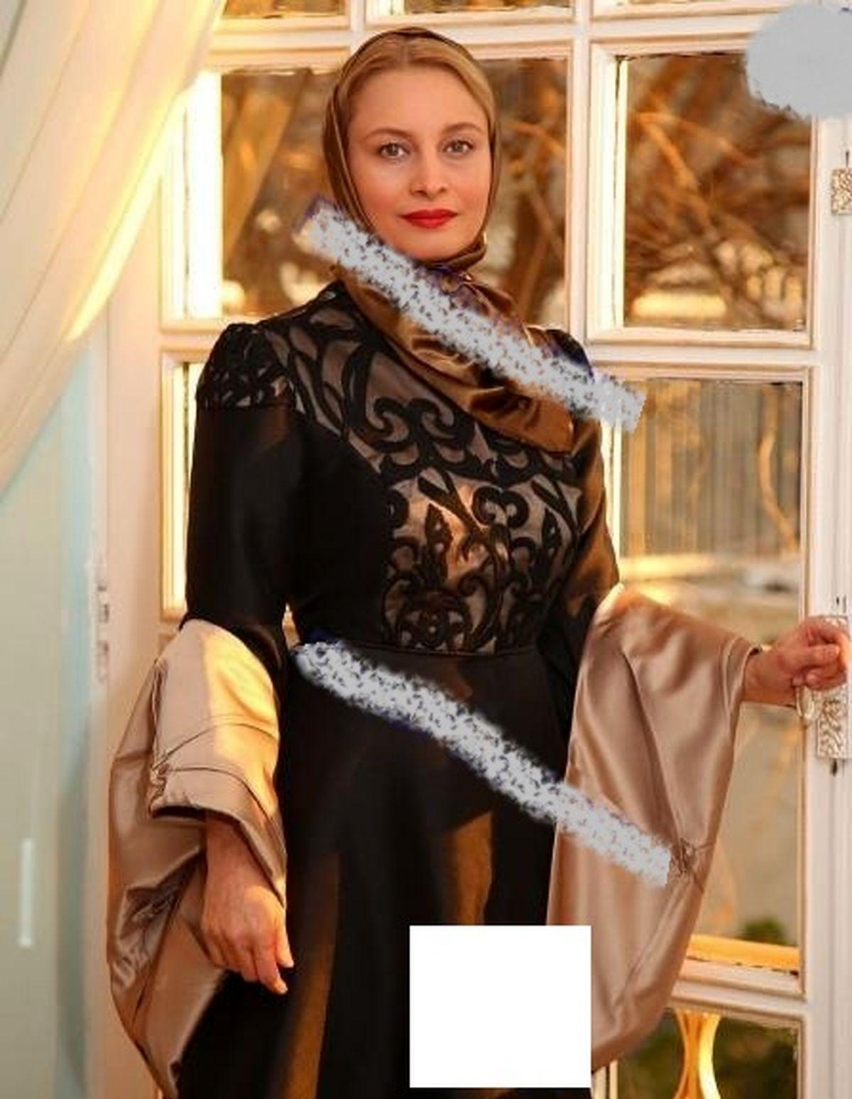 لباس توری مریم کاویانی بعد از ازدواج با آقای سفیر+عکس