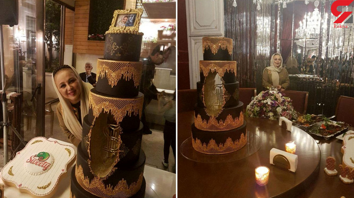 کیک 7 طبقه و لاکچری برای تولد بهنوش بختیاری + عکس
