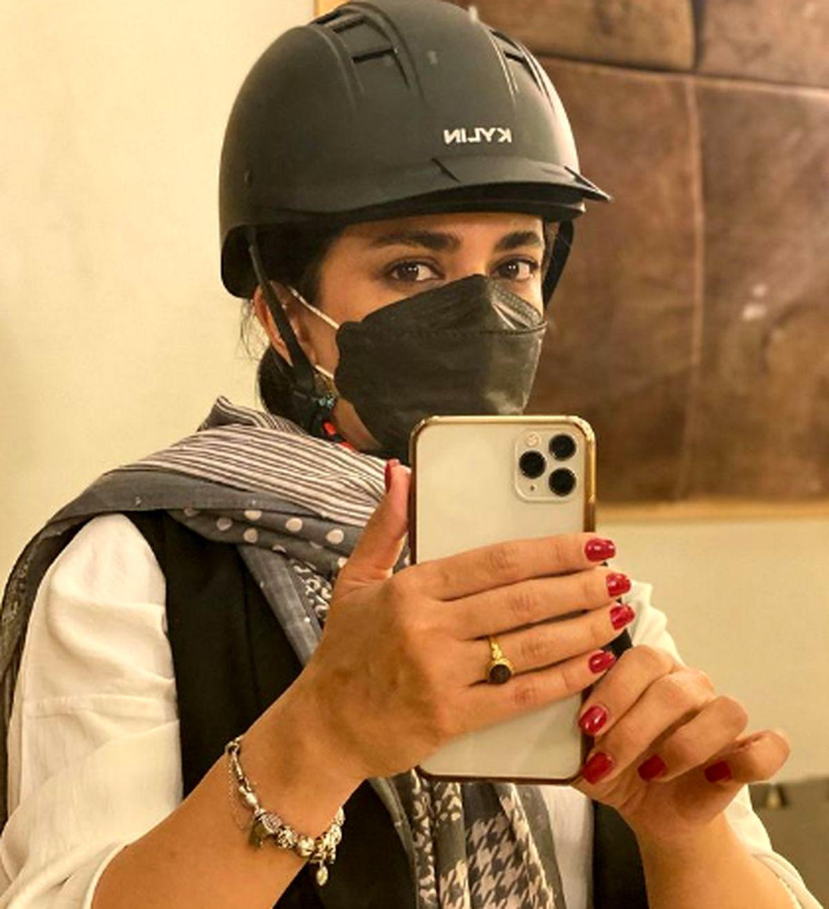 تیپ لیندا کیانی در باشگاه + عکس