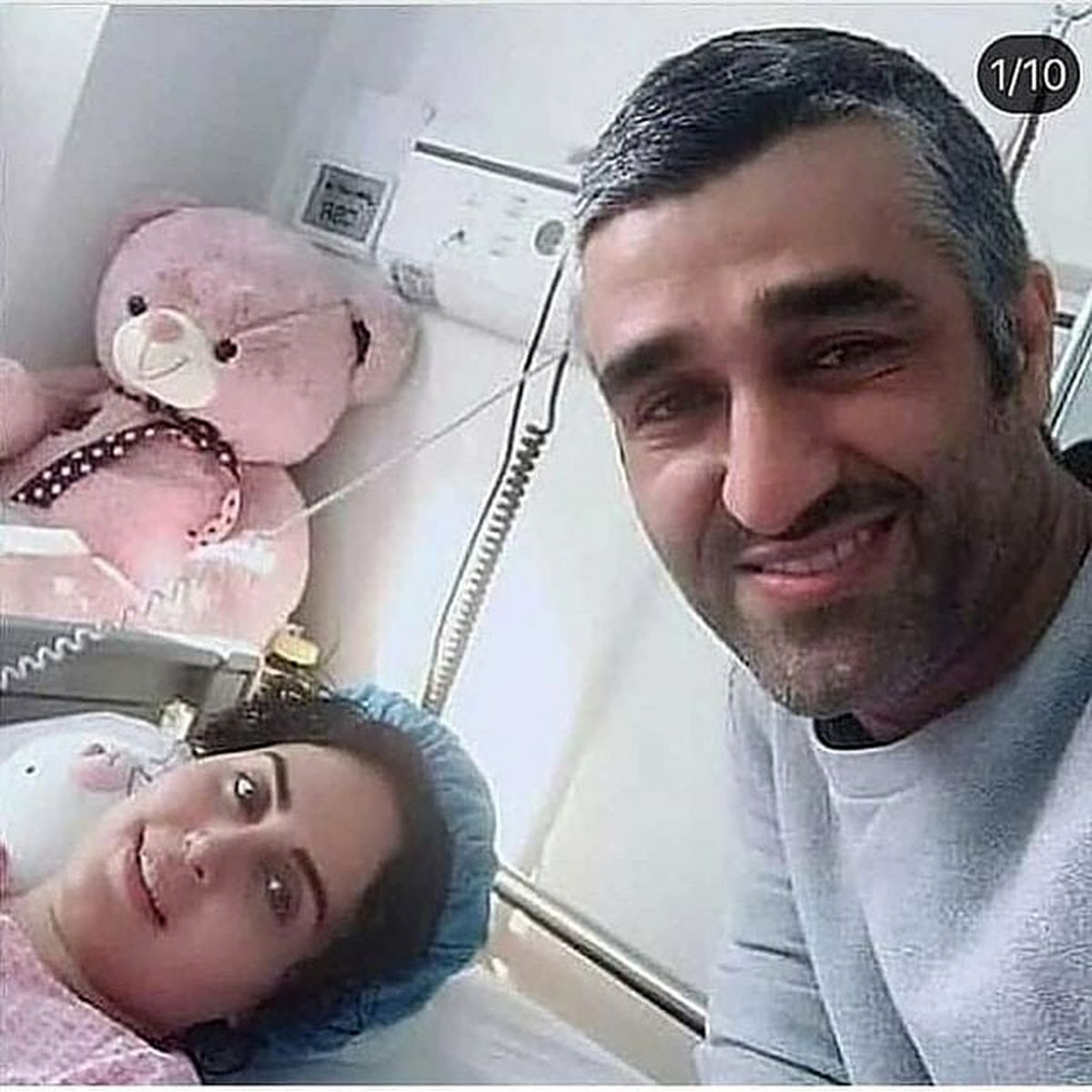 عکس ناجور الناز شاکردوست و پژمان جمشیدی روی تخت !