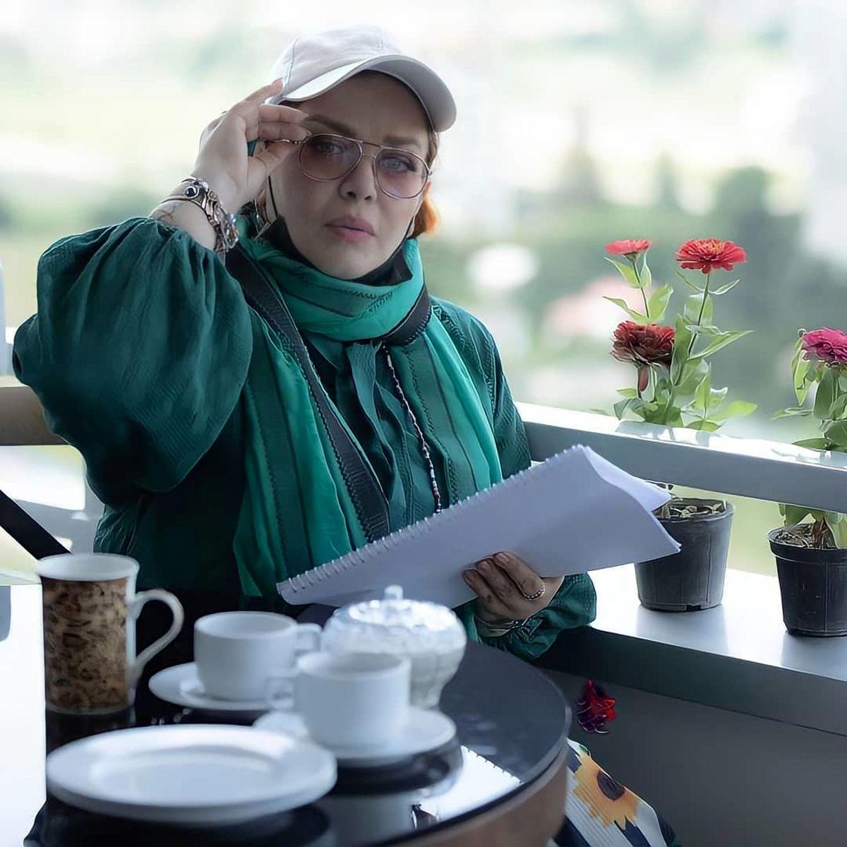 بهاره رهنما در بالکن لاکچری خانه اش + عکس