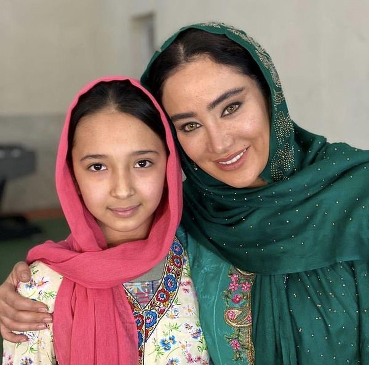 چهره ترسناک بهاره افشاری در لباس افغان ها ! + عکس