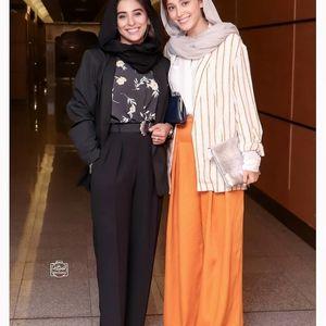 دامن نارنجی و عجیب  غریب فرشته حسینی +عکس