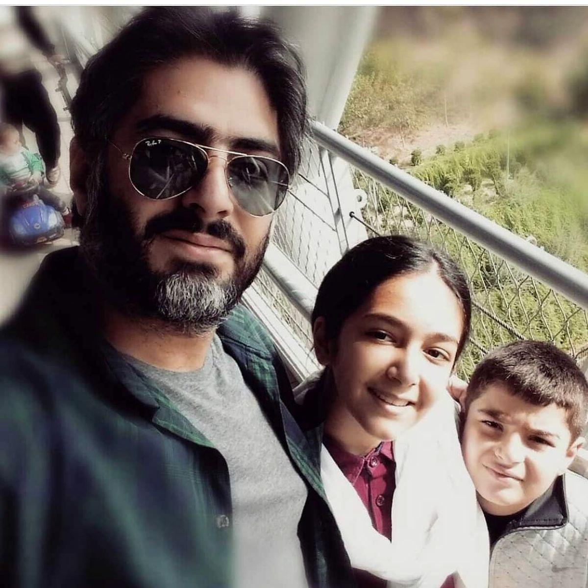 همسر ساره بیات در کنار فرزندانش! + عکس